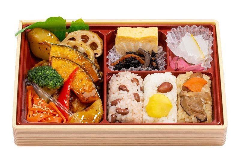 おこわ米八の黒酢弁当の写真