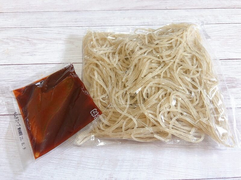 カルディキムチ冷麺の袋の中身