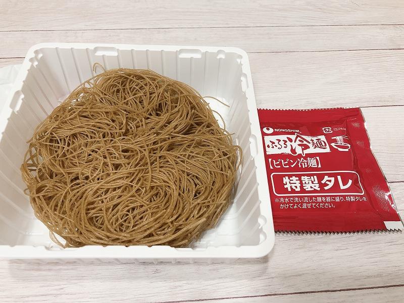 カルディ農心ふるるビビン麺の袋の中身