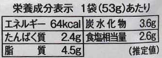 カルディパスタソースの栄養成分表