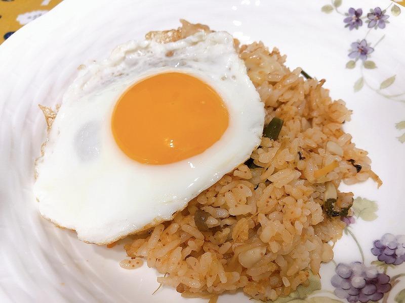 カルディめんたいビビンバのおすすめアレンジ①卵