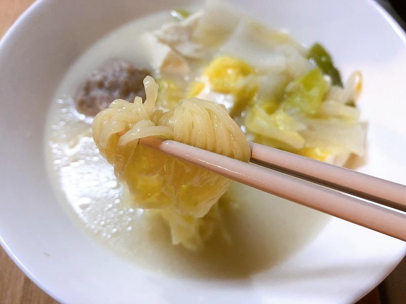カルディ鶏白湯鍋つゆおすすめアレンジ⑤中華麺
